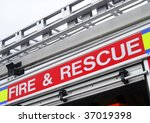 Closeup View Of Fire And Rescue ...
