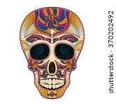 dia de muertos. illustration of ... | Shutterstock .eps vector #370202492