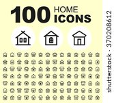 house and real estate icons.... | Shutterstock .eps vector #370208612