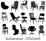 chairs | Shutterstock .eps vector #37021645