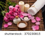 set of rose with spa set on mat | Shutterstock . vector #370230815