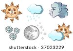 Old Weather Icons In Vector
