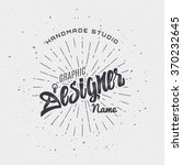 designer   insignia sticker can ... | Shutterstock .eps vector #370232645