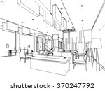 interior outline sketch drawing