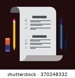 attributes examination work. a... | Shutterstock .eps vector #370248332