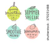 smoothie special hand drawn... | Shutterstock .eps vector #370251488