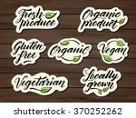 hand drawn healthy food... | Shutterstock .eps vector #370252262