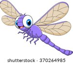 Stock vector cartoon funny dragonfly isolated on white background 370264985