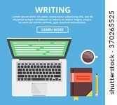 writing flat illustration... | Shutterstock .eps vector #370265525
