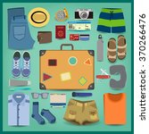 big suitcase set. all that... | Shutterstock .eps vector #370266476