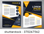 brochure design a4 template.... | Shutterstock .eps vector #370267562
