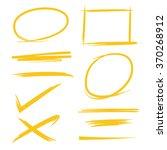 set of hand drawn highlighter... | Shutterstock .eps vector #370268912
