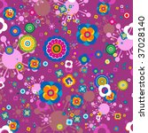 flowers pattern  seamless   Shutterstock .eps vector #37028140