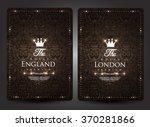 casino card design vintage style | Shutterstock .eps vector #370281866