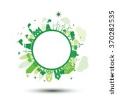 green city sustainable nature... | Shutterstock .eps vector #370282535