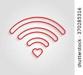 heart wifi. vector heart...