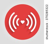heart wifi. vector heart... | Shutterstock .eps vector #370285322