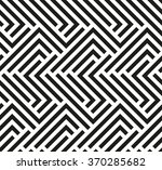 Stock vector seamless geometric pattern by stripes modern vector background with repeating lines black and 370285682