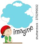 boy with imagination bubble... | Shutterstock .eps vector #370290032