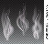 white smoke waves on...   Shutterstock .eps vector #370291772
