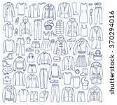 hand drawn doodle set with man... | Shutterstock .eps vector #370294016