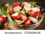 fresh salad made of tomato ... | Shutterstock . vector #370309418