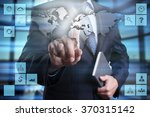 businessman pressing button on... | Shutterstock . vector #370315142