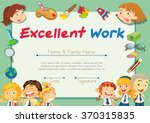 certification template for... | Shutterstock .eps vector #370315835