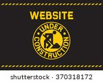 website under construction... | Shutterstock .eps vector #370318172