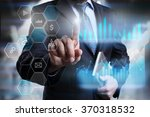 businessman pressing on the... | Shutterstock . vector #370318532