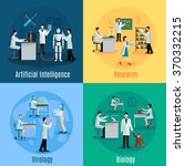 scientists 2x2 design concept... | Shutterstock .eps vector #370332215