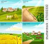 countryside 4 flat pictograms... | Shutterstock .eps vector #370332332