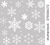seamless snowflakes pattern... | Shutterstock .eps vector #370336172