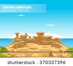 beautiful canyon landscape.... | Shutterstock .eps vector #370337396
