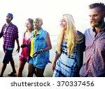 friendship bonding relaxation... | Shutterstock . vector #370337456