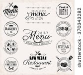 typography restaurant menu... | Shutterstock .eps vector #370343282