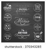 restaurant menu badges and... | Shutterstock .eps vector #370343285