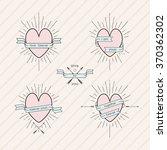 set of design elements in... | Shutterstock .eps vector #370362302