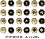 snowflakes buttons | Shutterstock .eps vector #37036552