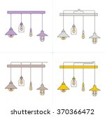 collection of vintage lamps ... | Shutterstock .eps vector #370366472