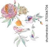 flower elements | Shutterstock .eps vector #370366706