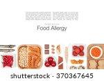 allergy food on white...   Shutterstock . vector #370367645