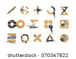 collection of stylish... | Shutterstock .eps vector #370367822