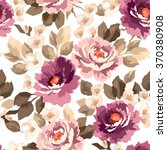 vector pattern with flowers and ... | Shutterstock .eps vector #370380908