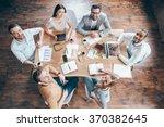 best team ever  top view of... | Shutterstock . vector #370382645