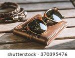 men accessories  closeup brown... | Shutterstock . vector #370395476