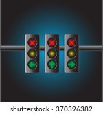 modern traffic light with green ... | Shutterstock .eps vector #370396382