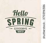 spring vintage style... | Shutterstock .eps vector #370396586