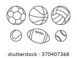 sports balls in linear style | Shutterstock . vector #370407368