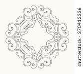 elegant luxury retro floral... | Shutterstock .eps vector #370412336
